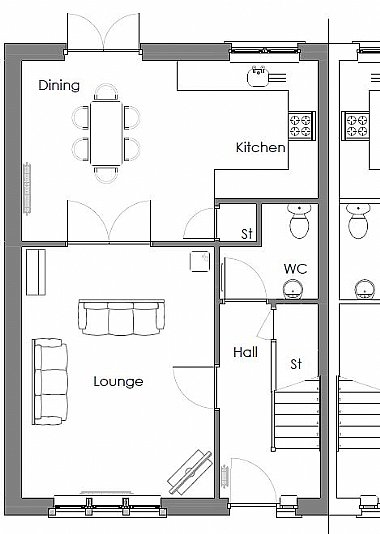 Wyvis enhanced - 3 bedroom new build floor plan